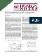 Wide Input Voltage Range Buck Boost Converter Simplifies Design of Variable Input Supplies