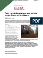 05-05-11 Paula Hernandez convocó a periodo extraordinario en San Lázaro - Milenio