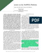 NetFPGA FCCM 2009 Packet Generator