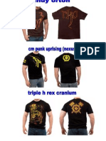 Camisetas wwe