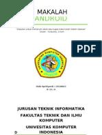 Makalah Android [Tugas Sistem Operasi]