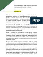 Decreto Con Rango, Valor y Fuerza de Ley Contra El Desalojo y La Desocupacion Arbitraria de Viviendas
