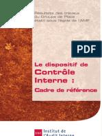 Le dispositif de Contrôle Interne - Cadre de référence _IFACI