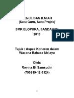 Aspek Koheren Dalam Wacana Bahasa Melayu