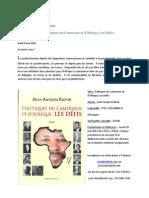 Communique de Presse Politiques Du Cameroun Et Afrique Les Defis