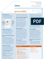 Factsheet Prostate Enlargement