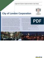 En 16001 BSI City of London Corp. Case Study