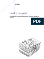 Liability or Equity - A Practical Guide to the Classification of Financial Instruments Under IAS 32 July 2009 (1)