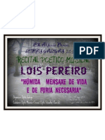 Recital poético-musical Lois Pereiro - Carballo, 13 de maio de 2011