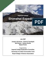 Shimshal Expedition