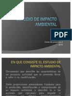 Estudio de Impacto Ambiental Clase 1