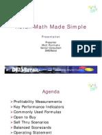 Retail Math Made Simple Pres.