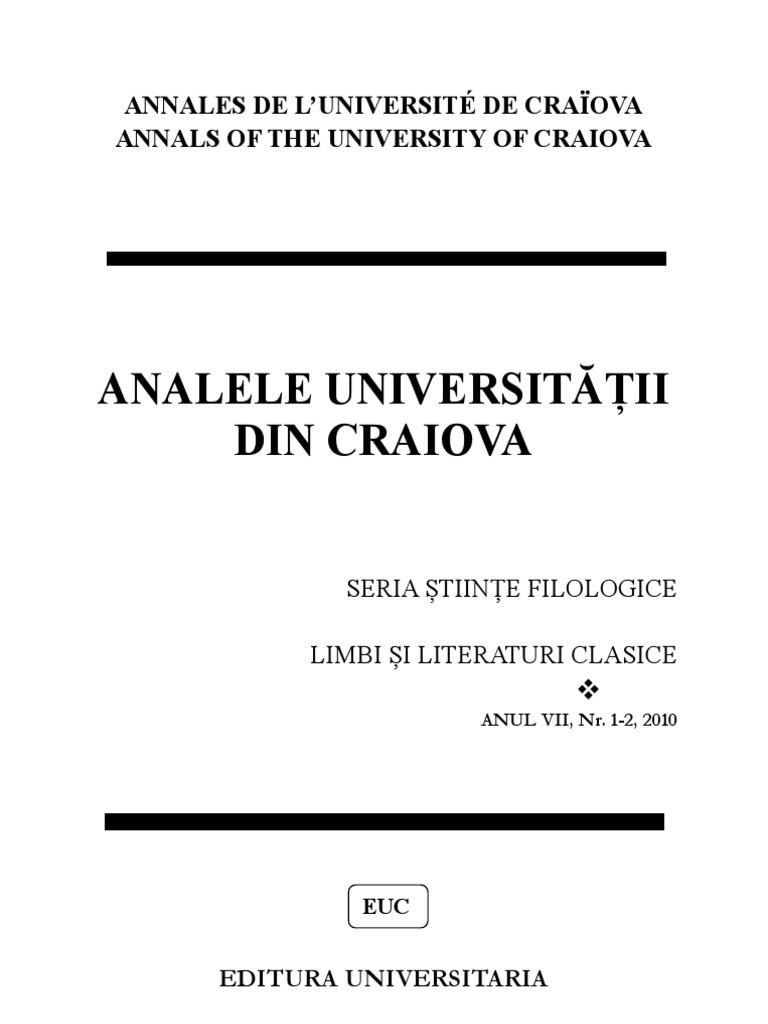 analele univ cv-limbi si literaturi clasice nr  1-2 2010[1]