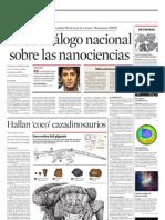 Abren diálogo nacional sobre las nanociencias
