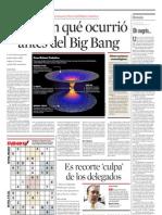 Estudian qué ocurrió antes del Big Bang