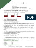 EXERCÍCIOS DE FÍSICO-QUÍMICA