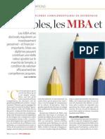 Rentables les MBA et les doctorats ?