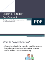 Comprehension by Amer