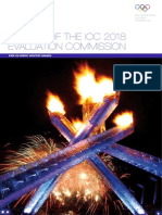 REPORT OF THE IOC 2018  EVALUATION COMMISSION