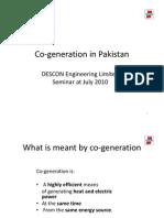Descon Presentation on Co-Generation 13-07-2010