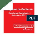 Programa Enrique Cabero 2011