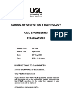 Hydraulics 2006 Exam