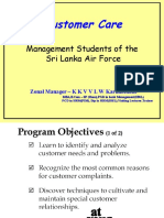 Customer Care Ariforce Hand Out