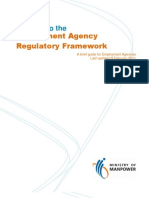 Guide for Employment Agencies on New Regulatory Framework 2011