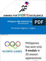 "Philippine High School Sports Act Sponsorship Speech - ""Aiming for Sports Excellence"" (05.10.2011)"