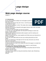 Basic Web Page Design in 2 Days