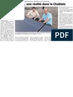 La bourse solaire, une réalité dans le Chablais