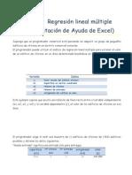 Ejemplo Completo Regres Lineal Excel