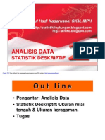 STAT LINGK- Slide VI - 2011- Analisis Data Stat Deskriptif 2