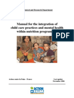 Manual for the integration of child care practices and mental health within nutrition programmes