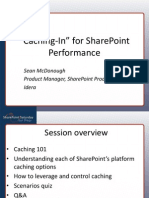 Sean McDonough Caching in for Share Point Performance Sps San Diego