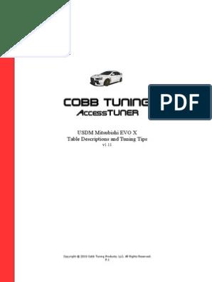 Access Tuner HelpFile Mitsubishi EVOX | Turbocharger | Throttle