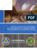 GUÍA DE EVALUACIÓN ECONÓMICA DE LA INCLUSIÓN DE LA VARIABLE RIESGO DE DESASTRES EN LA INVERSIÓN P