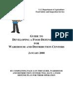 Guidance Document Warehouses Food Defense AF910
