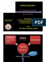"Journal Reading ""Tuli Sensorik Mendadak Idiopatik"" ppt"