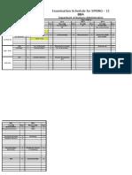Final Examination Schedule Spring-11 DBA