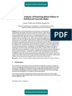 Numerical Analysis of Punching Shear Failure of Reinforced Concrete Slabs