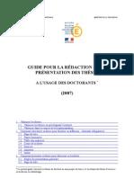 Guide Thèse Doctorat