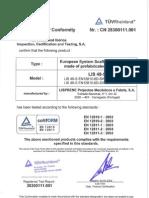 Confirmation of Conformity TUV LIS48S (en)