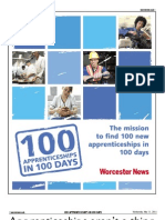 100 Apprenticeships in 100 days
