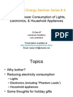 GL Energy Seminar 4 - Reducing Electricity Consumption