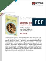 Epifanía y etiología. Ensayos sobre religiosidad griega antigua