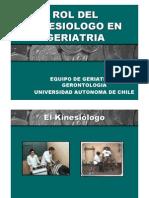 Rol Del Kinesiologo en Geriatria 2011