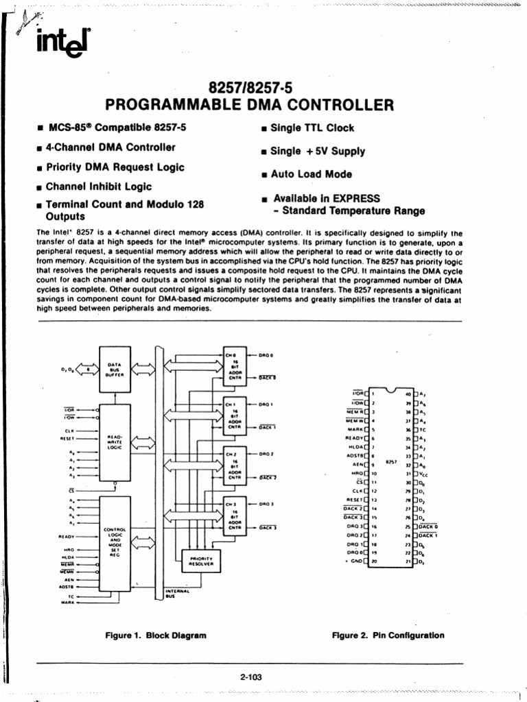 Intel 8257 programmable dma controller pooptronica