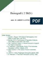 Demografi ( 2 SKS )