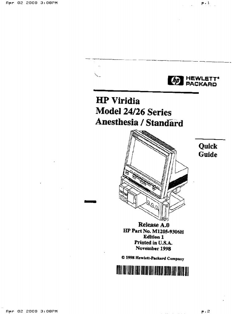 HP V24 26 Ops Manual